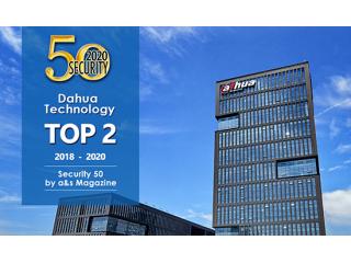 Компания Dahua вновь занимает 2 место в рейтинге лучших компаний безопасности мира, и объясняет свой успех