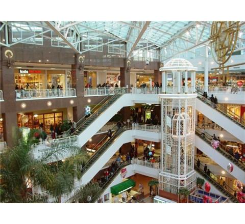 Монтаж систем видеонаблюдения для торгового центра